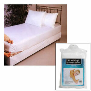 Image Is Loading Full Size Bed Mattress Cover Plastic White Waterproof