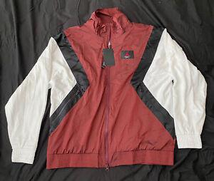 details about nike air jordan flight jacket bordeaux black white windbreaker l psg 4 paris new