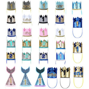 Baby Boy Girl 1st First Birthday Party Hat Princess Prince Crown Hair Accessory Ebay