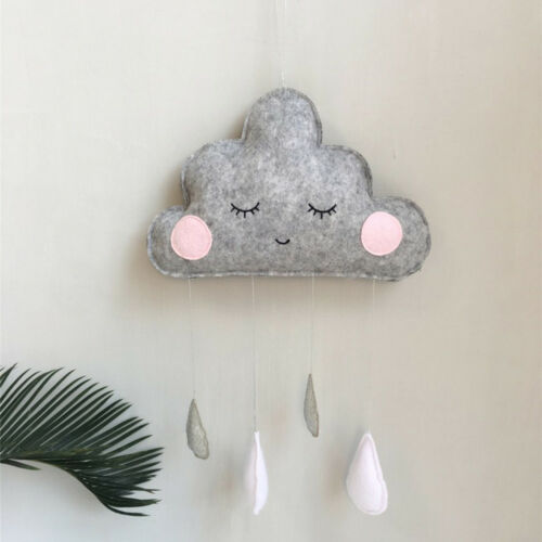 CLOUD-WATER-DROP-FELT-WALL-HANGING-ORNAMENT-BABY-NURSERY-ROOM-DECOR-GIFT-FADDISH