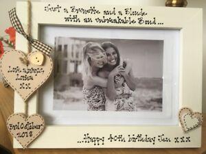 Personalisierte Fotorahmen Sisters Best Friends 40th Geburtstag Geschenk 7x5 Ebay