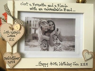 Personalised Photo Frame Sisters Best Friends 40th Birthday Gift 7x5 Ebay