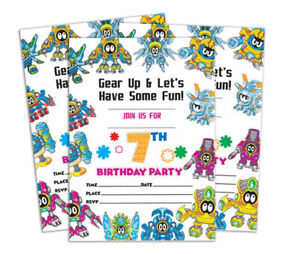 Details About Birthday Invitation Card 28 Pcs Blank Invites Printable Party Supplies Ds In90g