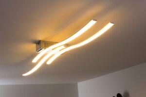 details sur plafonnier led luminaire de salon design lampe a suspension lustre metal 129475