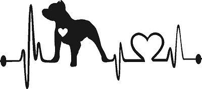 Download Pitbull Heartbeat lifeline vinyl decal sticker (pitty dog ...