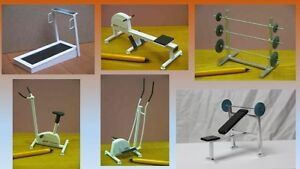 1 12 dolls house miniature modern gym equipment 6 to choose from     Image is loading 1 12 dolls house miniature modern gym equipment