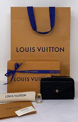 louis vuitton black card holder recto verso wallet monogram empreinte leather ebay
