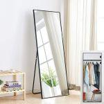 Full Length Mirror Bedroom Floor Mirror Free Standing Hanging Large Black Mirror Ebay