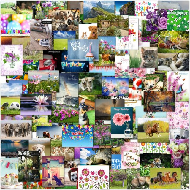 Pack Of 72 Mixed Trade Wholesale Bulk Birthday Greeting Cards Male Female Kids For Sale Online Ebay