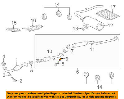 toyota oem sienna exhaust system catalytic converter pipe spring 90501a0007 ebay