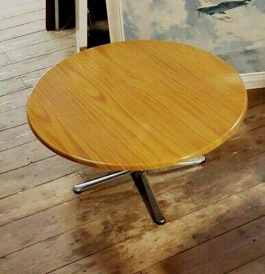 formwood retro melamine round coffee table 1960s chrome base 30 inch rare ebay