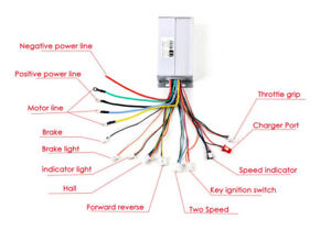 48V Electric Bicycle Ebike Scooter Brushless DC Motor