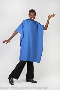 royal blue nylon cutting cape personalized hair salon shop stylist barber 3words ebay