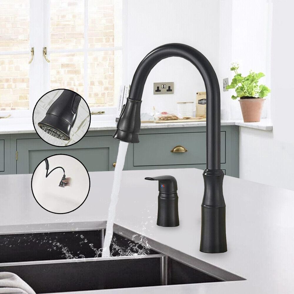 kitchen sink faucet pull down sprayer