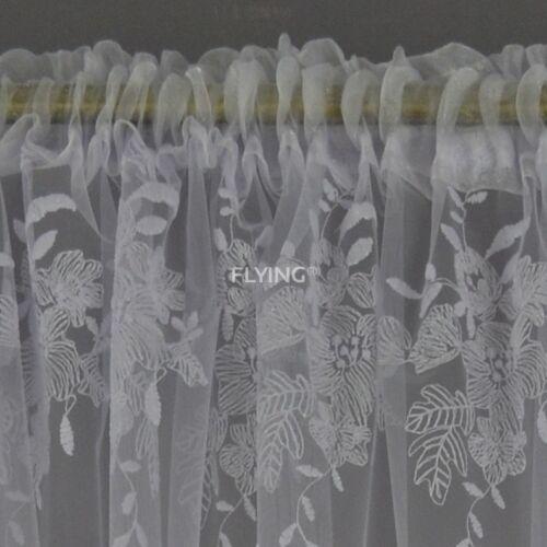 rideaux voilages lb 105wb fini rideau en voile blanc fenetre rideau 145x400 cm rideau fleurs maison kuenzel awt com