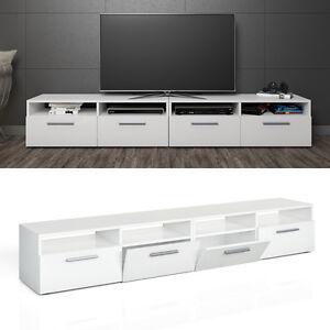 details sur vicco meuble bas diego pour tv armoire table pour televiseur blanc laque 2 er