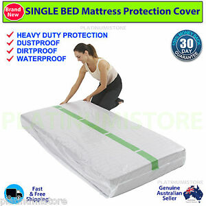 Image Is Loading 2 Single Size Bed Mattress Protect Plastic Cover