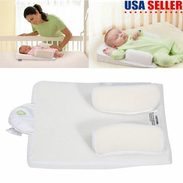 adjustable newborn infant baby sleep anti roll pillow prevent flat head cushion
