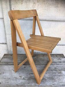 details sur chaise pliante ancienne aldo jacober bois design annees 60 vintage