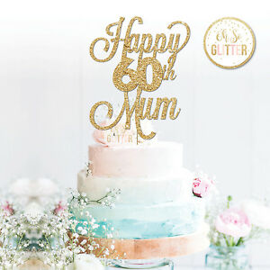 60th Mama Cake Topper 60 Auflage Custom Personalisiert Kuchen Topper 16 21 30 50 60 Ebay