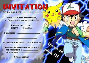 details about 5 or 12 birthday invitation cards pokemon ref 293 show original title