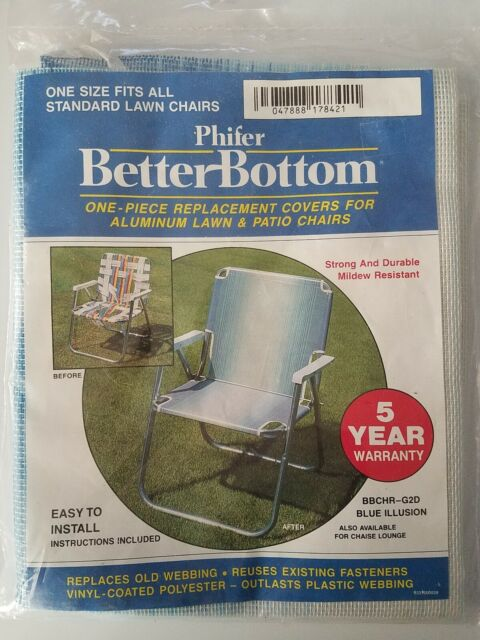 phifer better bottom replacement 1 piece cover aluminum lawn chair prism stripe