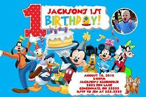 Mickey Mouse Clubhouse Custom Designed Birthday Party Invitation Add Photo Ebay