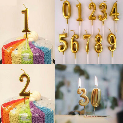 Glitter Gold Birthday Candles Number 0 9 Cake Decoration Cake Topper Party Gift Greeting Cards Party Supply Party Supplies