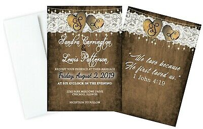 Personalized Wedding Invitations Double