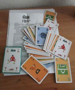 details sur jeu de cartes tapis foot avec regle du jeu