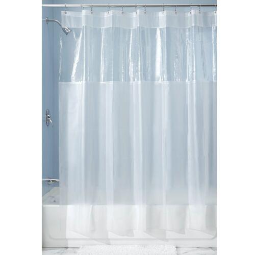new interdesign hitchcock window eva clear frosted vinyl shower curtain 19413 bathroom supplies accessories garden curtains