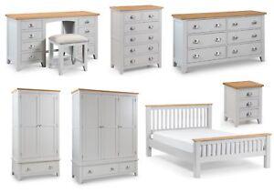 details about julian bowen richmond solid oak bedroom furniture grey oak tops metal handles