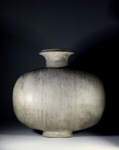Antique Chinese Earthenware Cocoon Vase Han Dynasty