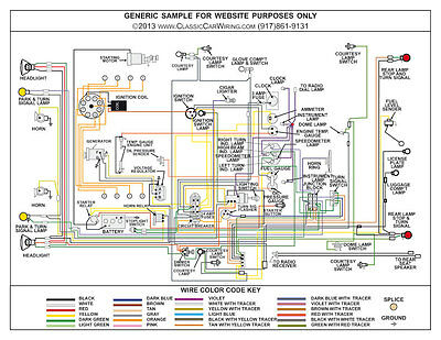 "1946 46 1947 47 ford truck full color laminated wiring diagram 11"" x 17""   ebay"