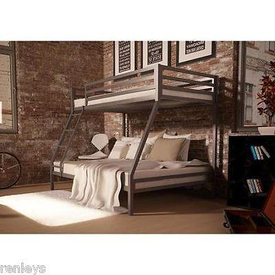 Twin Over Full Bunk Beds Kids Boys Girls Bedroom Furniture