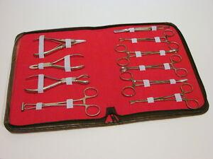 10er Set pro Körper Ohr Zunge Nabel Piercing Zange Klemmen Werkzeuge Neu Ce