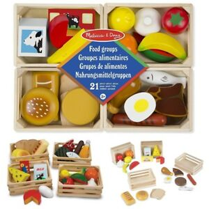 image is loading melissa doug food groups 21 hand painted wooden