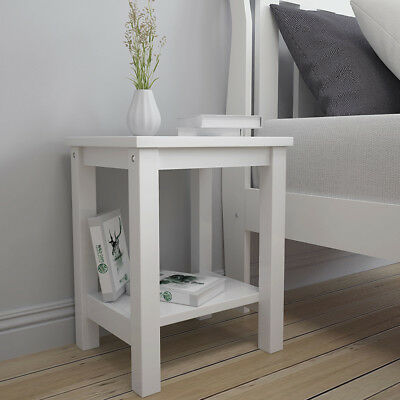 White Bedside Table Side Cabinet Lamp Small End Table Nightstand Tidy Room Study Ebay