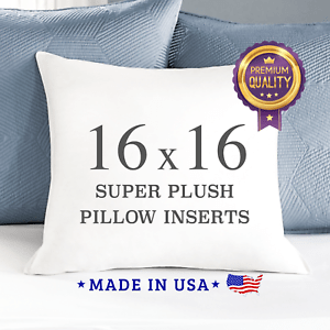 details about 16 x 16 down alternative throw pillow inserts square form insert sham stuffing