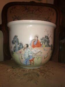 Qing dynasty chinese porcelain jardiner Last Quarter 19th C Rose Famille China