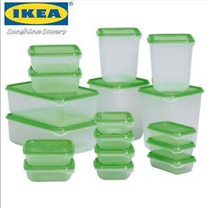 details sur ikea pruta plastique nourriture conteneurs 17 pieces vert rangement boite boites