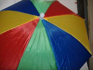 Umbrella Hat Red Green Blue Yellow Good In Sun Rain 895187300063 Ebay