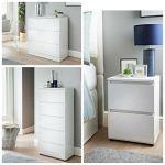Argos 3 Drawer Bedside Chest White Gloss For Sale Ebay