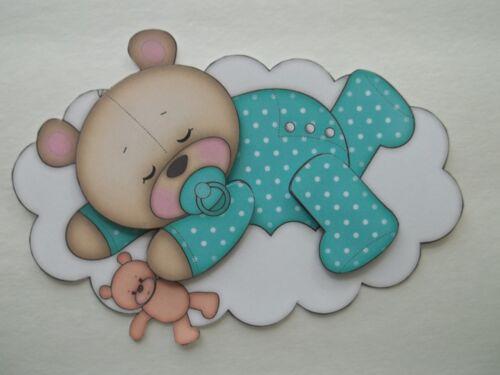 fertige seiten stucke 3d u pick be4 sleeping bear cloud pillow moon star scrapbook card embellishment bastel kunstlerbedarf