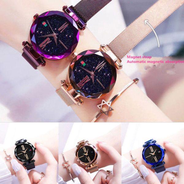 Luxury Starry Sky Masonry Watch Magnet Strap Buckle Stainless Watch Women Gift  5
