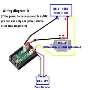 DC 100V 10A Voltmeter Ammeter LED Display Digital Volt Amp