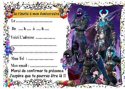 cartes invitation anniversaire jeux