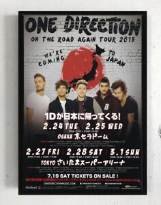 details about 2015 one direction japan concert tour flyer mini poster harry styles framed
