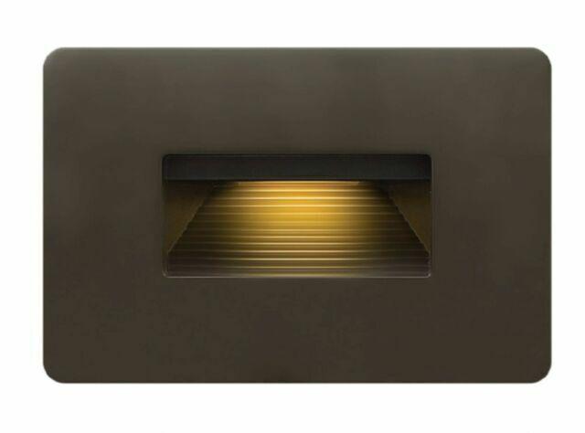 hinkley lighting luna 1 light landscape 120v deck bronze 58508bz