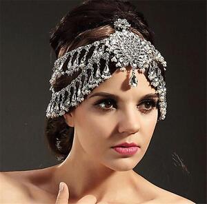 vintage wedding bridal crystal pearl headband crown tiara hair accessories party ebay